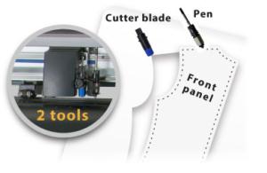 Configurazione doppio utensile plotter da taglio professionale Graphtec