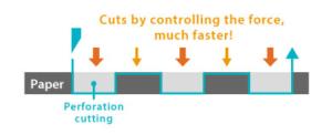 Velocita taglio perforato plotter da taglio professionale Graphtec